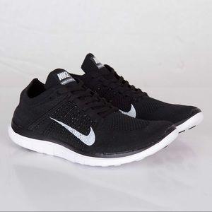 NIKE Free 4.0 Flyknit Black Trainers Sneakers